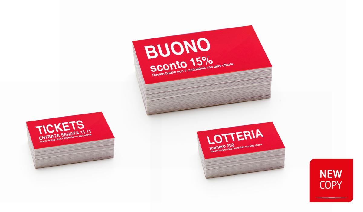Biglietti Entrata / Lotteria / Buoni